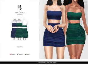 Sims 3 — Two Piece Ruched Mini Dress  by Bill_Sims — YA/AF Everyday/Formal Available for Maternity Recolorable - 1