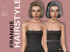 Sims 3 — LeahLillith Frankie Hairstyle by Leah_Lillith — Frankie Hairstyle All LODs Smooth bones Custom CAS thumbnail