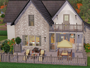 Sims 3 — Cottage Appaloosa Plains by sgK452 — Simple and comfortable house for a family with 2 children (girls), nothing