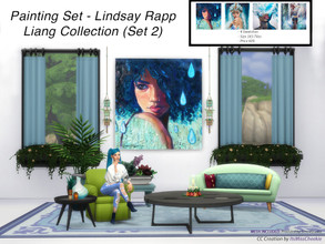 Sims 4 — Painting Set - Lindsay Rapp Liang Collection (Set 2) by itsmisscheekie — 4 Swatches Size 3X3 Tiles In Game Price