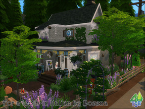 Sims 4 — For a tooth - in Italian by Bozena — An Italian restaurant located in Glimmerbrook. Lot: 30x20 Value: $ 70 732