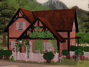 Sims 3 — Tiny House Moonlight Falls no CC Empty by sgK452 — Maybe not that small this house it can accommodate a family