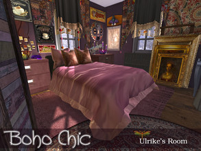 Sims 4 — Boho Chic - Ulrike's Bedroom by fredbrenny — The two roommates, Ulrike Faust and Maaike Haas live in Windenburg.