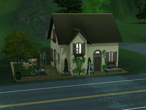 Sims 3 — Tiny House no cc by sgK452 — Small house . Any comfort, ideal for a couple or a single person, equipped kitchen,