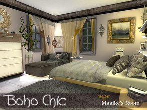 Sims 4 — Boho Chic - Maaike's Bedroom by fredbrenny — This room is the last one in the Boho Chic house, and also a little