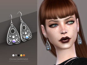 Sims 4 — Ouija earrings by sugar_owl — - new mesh - base game compatible - all LODs - 5 swatches - HQ compatible - female