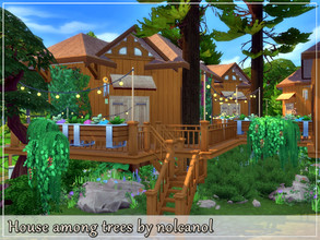 Sims 4 — House among trees by nolcanol — House among trees is an amazing place where each room is located in a separate