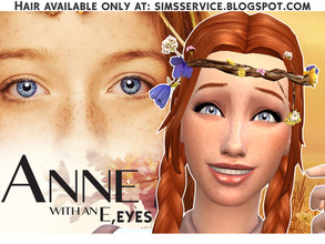"Sims 4 — Anne with an ""E"" - Eyes by annewellen — - Category: face paint; - Comes with 7 original colors; -"