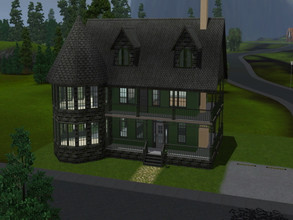 Sims 3 — Country Gothic by ChocoBeSweet — This two-story family home has 4 bedrooms and 3 bathrooms. One master and