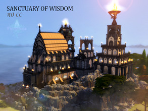 Sims 4 — Sanctuary of Wisdom by VirtualFairytales — A sanctuary place to guard the wisdom of the world. It comes with a