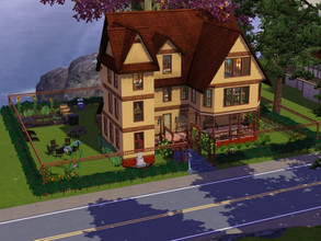 Sims 3 — Victorian Vikki Dollhouse - 3 bedrooms, 3 bathrooms, no CC by BlackPlumbob — This is a lovely victorian house