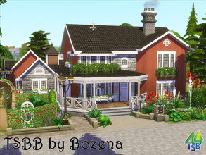 Sims 4 — TSBB by Bozena — Brindleton Bay.The lot is located in the Coast of the Wibrys district. A great place for cat