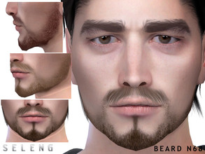 Sims 4 — Beard N68 by Seleng — Teen to Elder 10 colours Custom Thumbnail HQ mod compatible The picture was taken with HQ