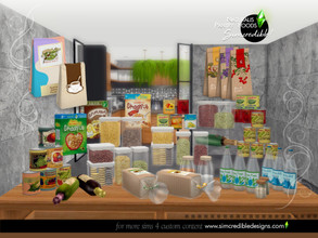 Sims 4 — Naturalis Pantry Foods by SIMcredible! — To compose our Naturalis pantry we decided to bring 2 different options