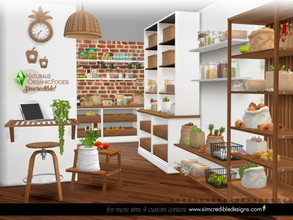 Sims 4 — Naturalis Pantry Organic Foods by SIMcredible! — It's Naturalis pantry set, which means LOTS of natural foods.