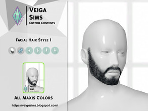 Sims 4 — Facial Hair Style 1 by David_Mtv2 — All maxis color