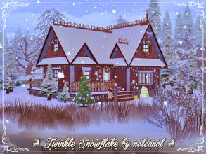 Sims 4 — Twinkle Snowflake by nolcanol — Christmas is coming.On this occasion, I want to wish everyone a joyful