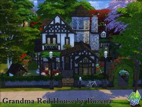 Sims 4 — Grandma Red House by Bozena — NewCrest. The lot is located in the Bridgeview district. In this lovely