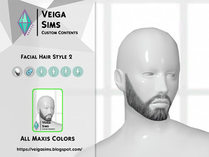 Sims 4 — Facial Hair Style 2 by David_Mtv2 — All maxis colors