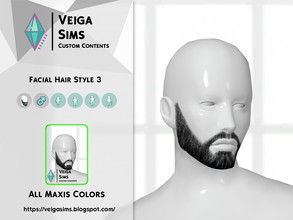 Sims 4 — Facial Hair Style 3 by David_Mtv2 — All maxis color
