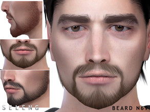 Sims 4 — Beard N69 by Seleng — Teen to Elder 10 colours Custom Thumbnail HQ mod compatible The picture was taken with HQ