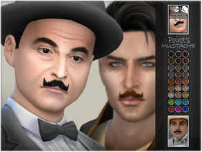 Sims 4 — Poirot's Mustache by BAkalia — Hello :) Hercule Poirot is a fictional Belgian detective created by Agatha