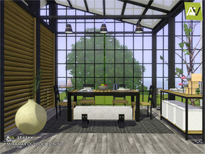 Sims 3 — Miramar Outdoor Dining by ArtVitalex — - Miramar Outdoor Dining - ArtVitalex@TSR, Dec 2020 - All objects are
