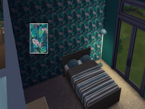 Sims 4 — flowers wallpaper by stacey451 — tropical flower wallpaper by stacey451 will compliment your walls
