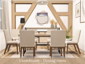 Sims 4 — Farmhouse Dining room by Mini_Simmer — Room type: Dining room Size: 4x5 Price: $4496 Wall Height: Short