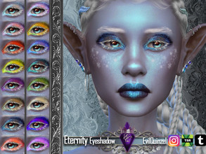 Sims 4 — Eternity Eyeshadow by EvilQuinzel — - Eyeshadow category; - Female and male; - Teen + ; - All species; - 17