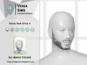 Sims 4 — Facial Hair Style 4 by David_Mtv2 — All maxis colors