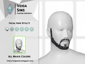 Sims 4 — Facial Hair Style 5 by David_Mtv2 — All maxis colors