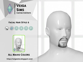 Sims 4 — Facial Hair Style 6 by David_Mtv2 — All maxis colors