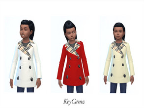 Sims 4 — KeyCamz Girl's Coat 1228 (Seasons Needed) by ErinAOK — Girl's Coat 3 Swatches