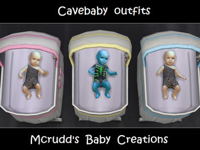 Sims 4 — Requested Cavebaby Outfits by mcrudd — Your baby boy and girls will wear the little cavebaby outfit. Your alien