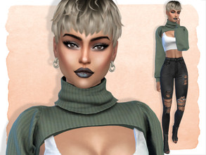 Sims 4 — Sasha Morrissey by Jolea — If you want the Sim to look the same as in the pictures you need to download all the