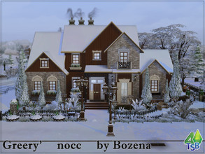 Sims 4 — Greery by Bozena — The charming building just steps from Sable Square is ideal for families who have just moved