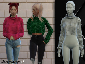 Sims 4 — Comfy Sweater by chrimsimy — -female top -16 swatches -custom thumbnail -all LODs -hq compatible Hope you like