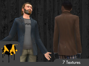 Sims 4 — Apocalypse Apparel - Suit Jacket by Bluebrick04 — Sorry for the hiatus. Today, I'm bringing myself back into the