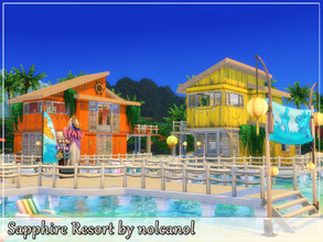 Sims 4 — Sapphire Resort by nolcanol — Sapphire Resort is an ideal place for a large family or a bunch of friends looking