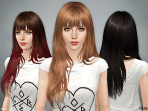 Sims 3 — Aliza Hairstyle - Sims 3 by Cazy — Female hairstyle for Teen through Elder.