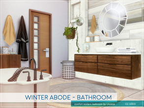Sims 4 — Winter Abode - Bathroom by Lhonna — Comfortable modern bathroom for wintertime. The room is furnished, tested,
