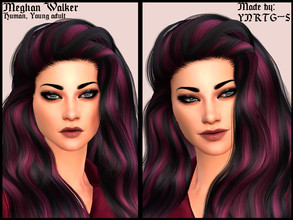 Sims 4 — Meghan Walker by YNRTG-S — Meghan is a risky and easygoing person who always gets in troubles while having