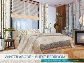 Sims 4 — Winter Abode - Guest Bedroom by Lhonna — Small modern bedroom for wintertime. The room is furnished, tested, and