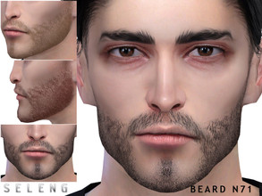 Sims 4 — Beard N71 by Seleng — Teen to Elder 10 colours Custom Thumbnail HQ mod compatible The picture was taken with HQ