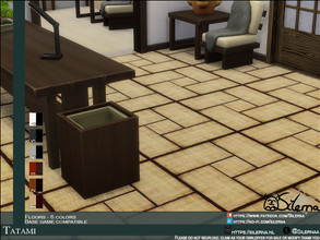 Sims 4 — Tatami by Silerna — Mini Tatami flooring for the Snow Escape feeling! -Base game compatible. -6 swatches