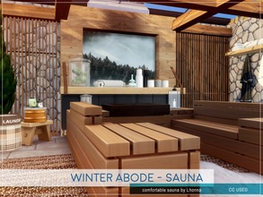 Sims 4 — Winter Abode - Sauna by Lhonna — Comfortable sauna for good health. The room is furnished, tested, and ready to