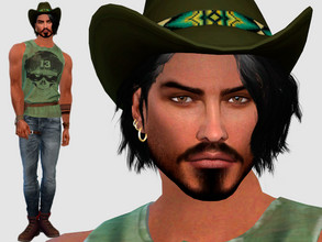 Sims 4 — Hector Suarez by DarkWave14 — Download all CC's listed in the Required Tab to have the sim like in the pictures.