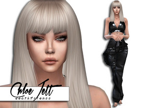 "Sims 4 — Chloe Jett by deathfr1enss — Go to the tab ""Required"" to download the CC needed. No sliders used."