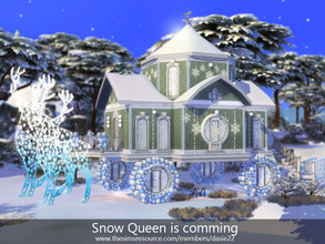 Sims 4 — Snow Queen is comming by dasie22 — Here is a charming vehicle created for Snow Queen. This fairy-tale house